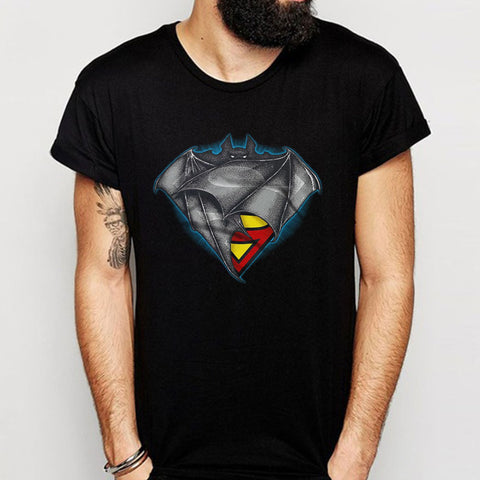 Superman And Batman Logo Superbat Men'S T Shirt