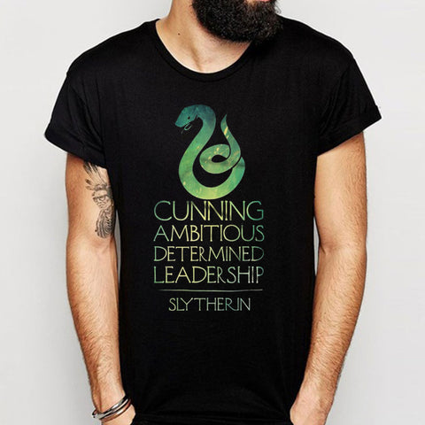 Slytherin Crest Logo Tumblr Hipster Quote Men'S T Shirt