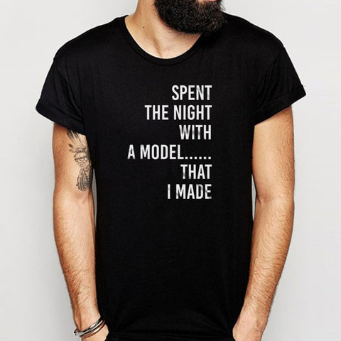 Spent The The Night With A Model Gift For Architect Funny Men'S T Shirt