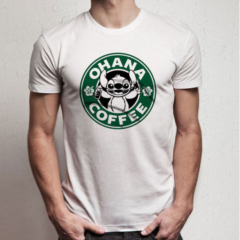 Stitch Ohana Cute Starbucks Coffee Men S T Shirt