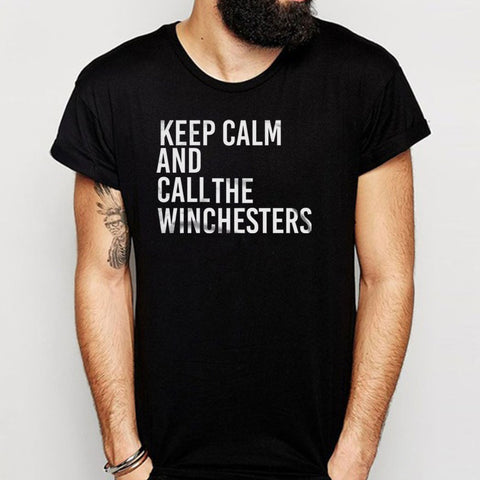 Supernatural Keep Calm And Call The Winchesters Men'S T Shirt