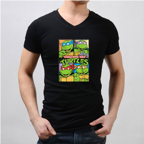 Teenage Mutant Ninja Turtles Cartoon Men'S V Neck