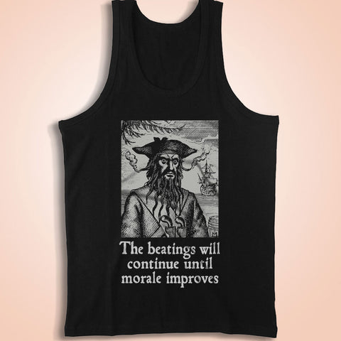 The Beatings Will Continue Until Morale Improves Men'S Tank Top