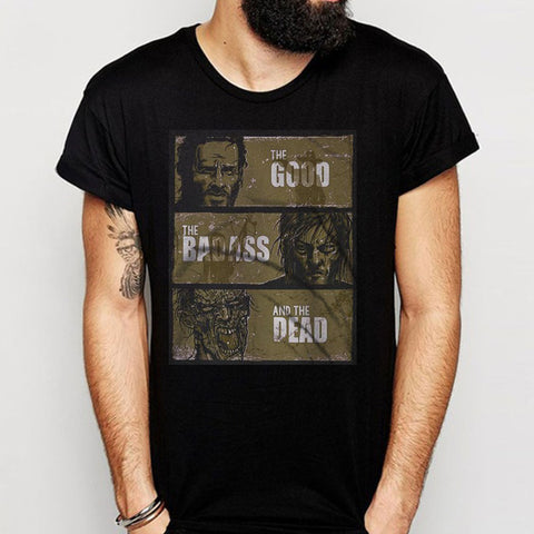 The Good The Bad Ass And The Dead Walking Dead Men'S T Shirt