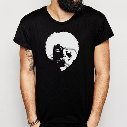 The Joy Of Painting Bob Ross 70S Afro Men'S T Shirt