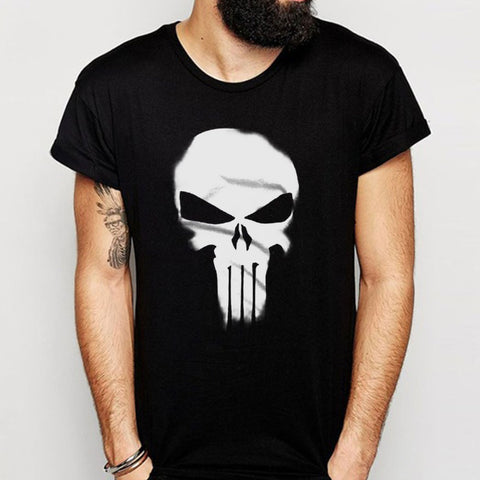 The Punisher Skull Marvel Spiderman Inspired Men'S T Shirt
