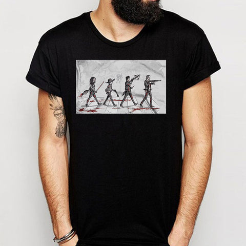 The Walking Dead Abbey Road Men'S T Shirt
