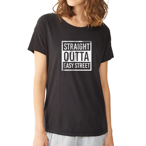 The Walking Dead Straight Outta Easy Street Negan Quote Women'S T Shirt