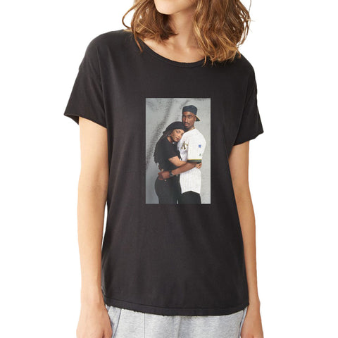 Tupac 2Pac And Janet Jackson Women'S T Shirt