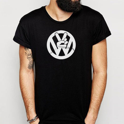 Vw Volkswagen Funny Vintage Soft Peace Symbol The Beatles 80S Retro Car Van Thing Bug Men'S T Shirt
