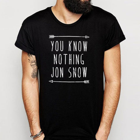 You Know Nothing Jon Snow Men'S T Shirt
