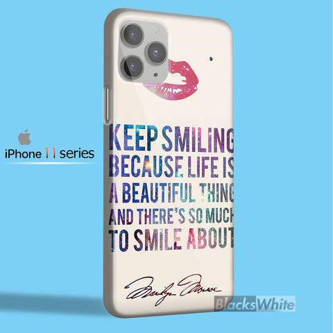 marilyn monroe quote    iPhone 11 Case