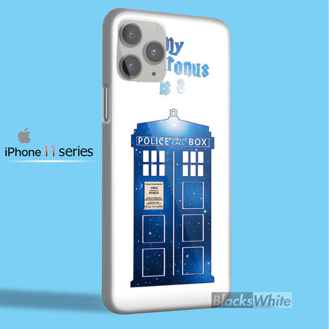 my patronus is a tardis blue box   iPhone 11 Case