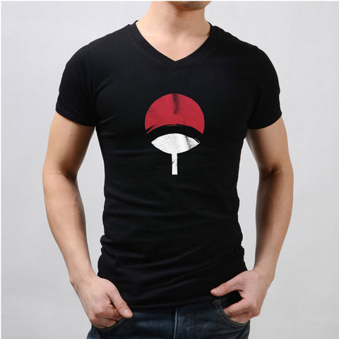 Uchiha Logo Sketch Men'S V Neck