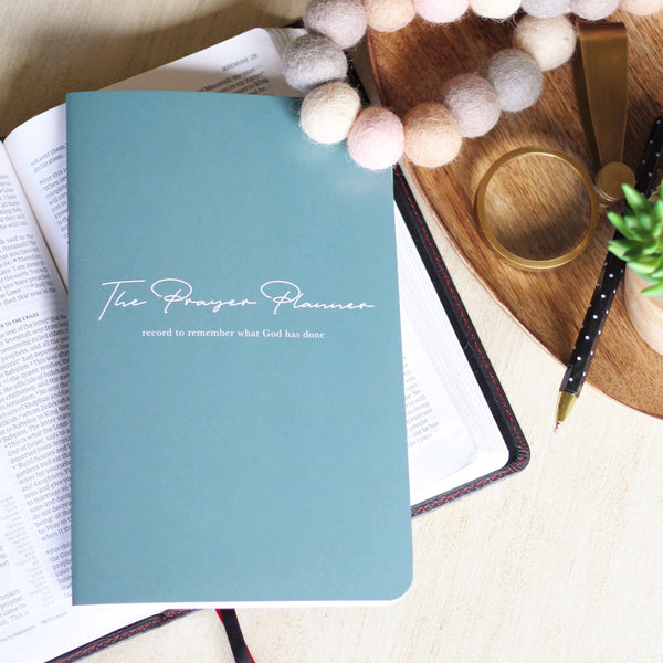Mini Planner in Blue-Green - The Prayer Planner