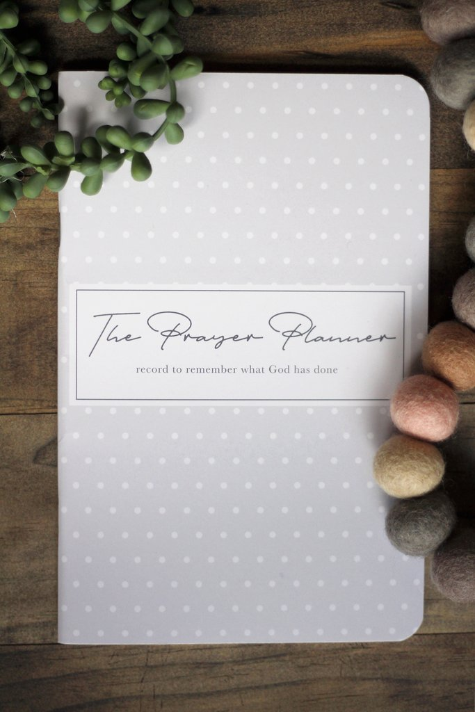 Mini Planner in Gray & White Polka Dots - The Prayer Planner