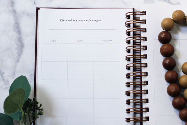 The Prayer Planner in Stone Gray - The Prayer Planner