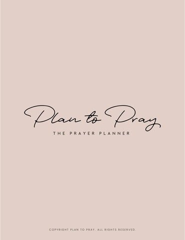 Free Workbook - The Prayer Planner