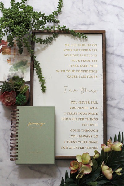 The Prayer Planner in Seafoam