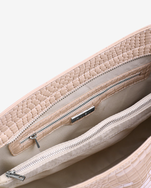 Hvisk AMBLE CROCO Handle Bag 125 Sand Beige
