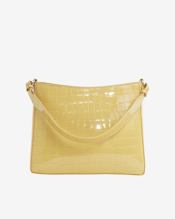 Hvisk AMBLE CROCO Handle Bag 109 Sunkissed Yellow