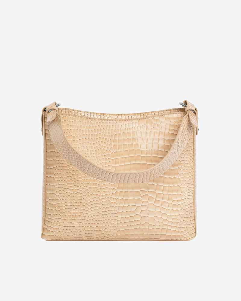 Hvisk AMBLE CROCO Handle Bag 122 Light Beige