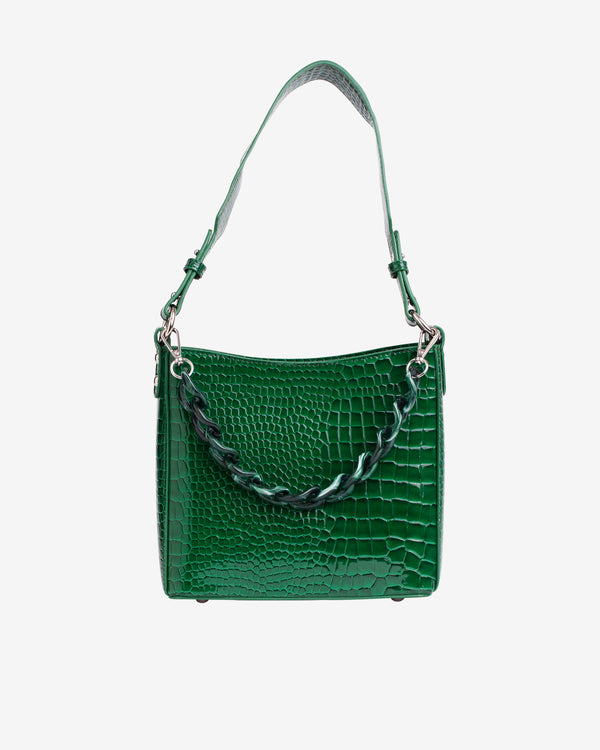 Hvisk AMBLE CROCO SMALL Handle Bag 127 Pine Green