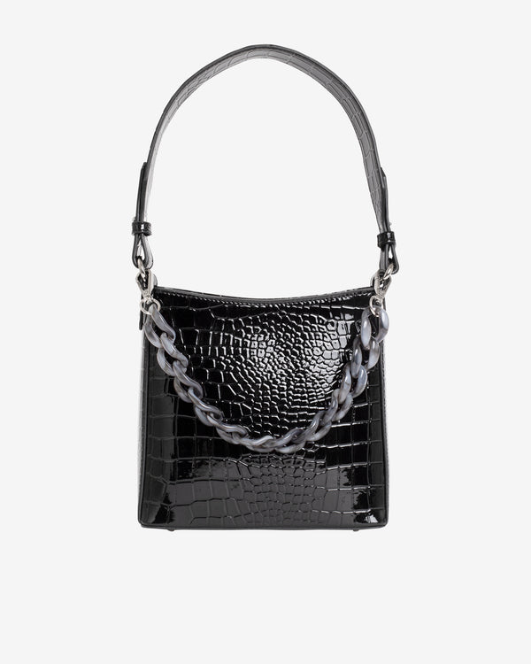 Hvisk AMBLE CROCO SMALL Handle Bag 009 Black