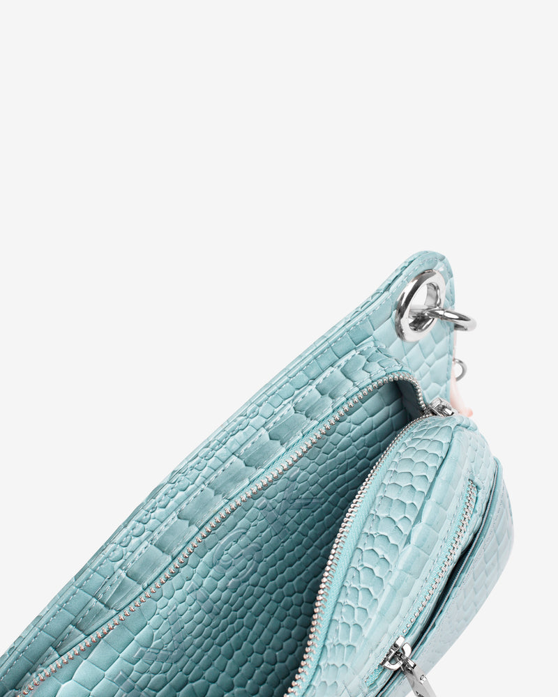 Hvisk BRILLAY CROCO Bum Bag 001 Baby Blue