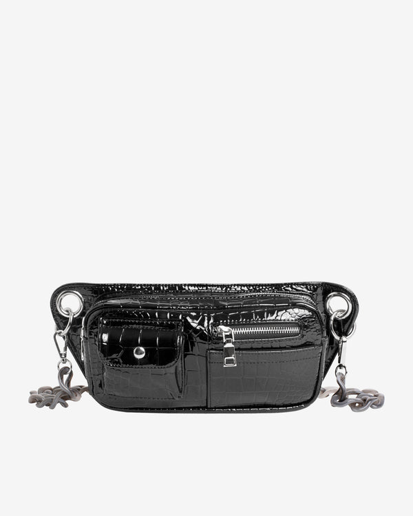 Hvisk BRILLAY CROCO Bum Bag 009 Black