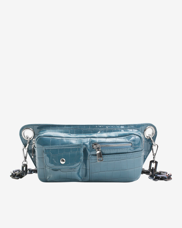 Hvisk BRILLAY CROCO Bum Bag 100 Dark Blue