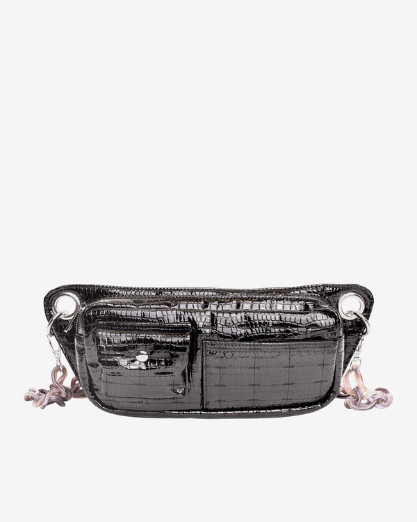 Hvisk BRILLAY CROCO Bum Bag 108 Jet Black