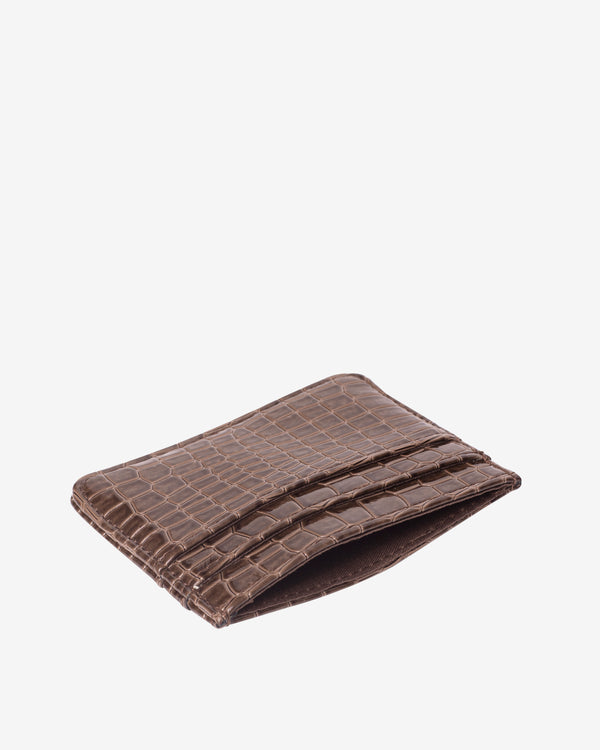 Hvisk CARD HOLDER CROCO Wallet 060 Brown