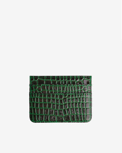Hvisk CARD HOLDER CROCO Wallet 075 Jungle Green