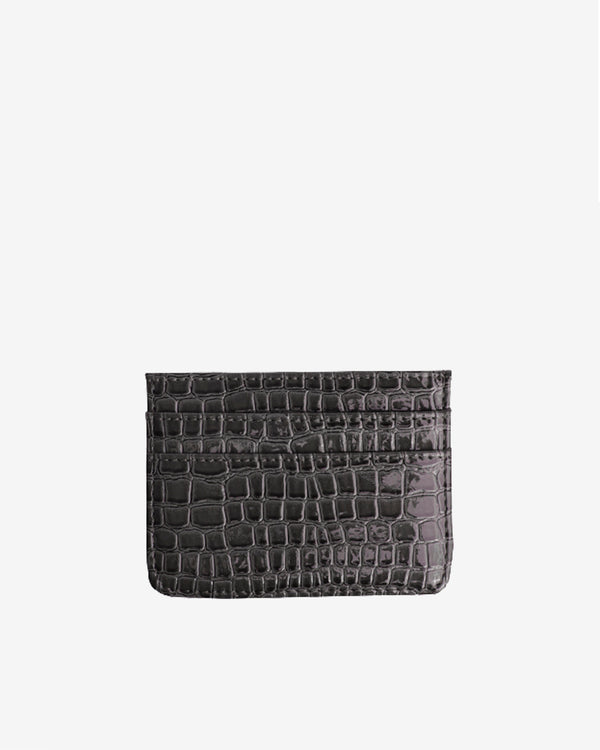 Hvisk CARD HOLDER CROCO Wallet 077 Dark Grey