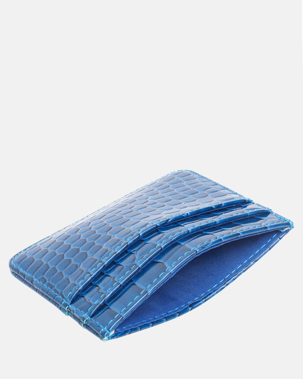 Hvisk CARD HOLDER CROCO Wallet 117 Klein Blue