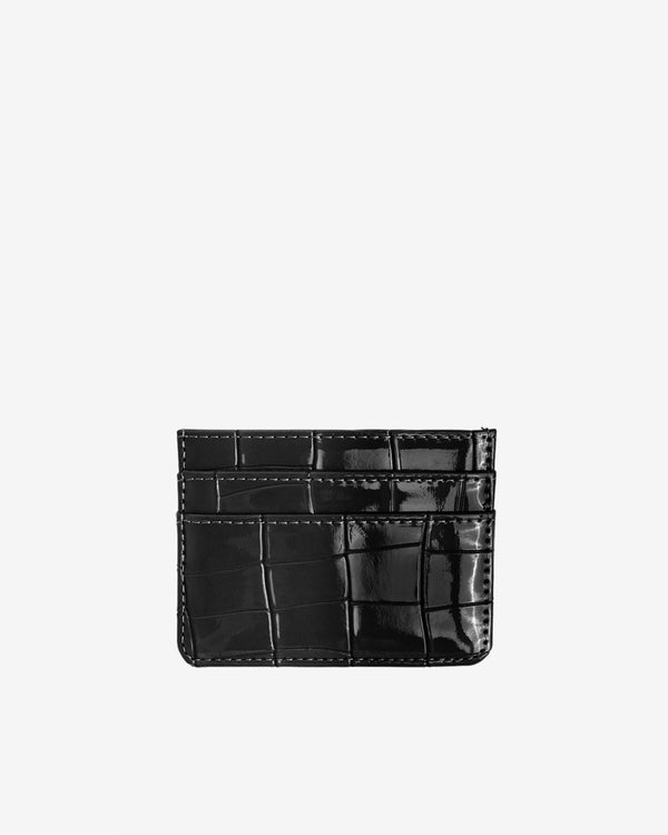 Hvisk CARD HOLDER CROCO Wallet 009 Black