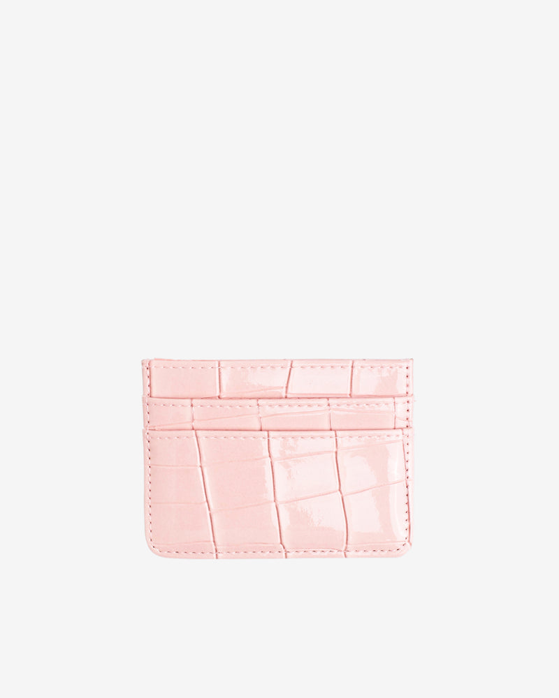 Hvisk CARD HOLDER CROCO Wallet 098 Soft Pink