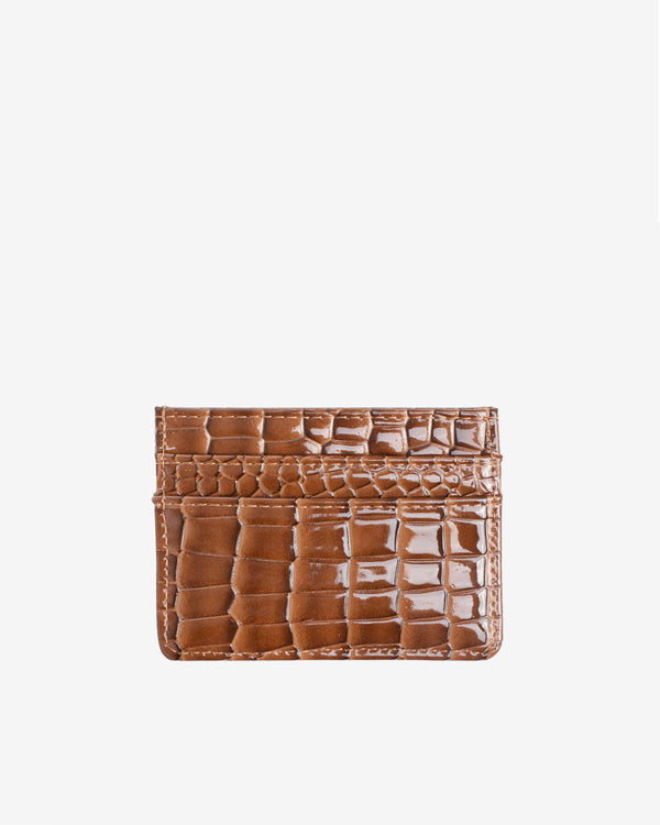 Hvisk CARD HOLDER CROCO Wallet 124 Brownish