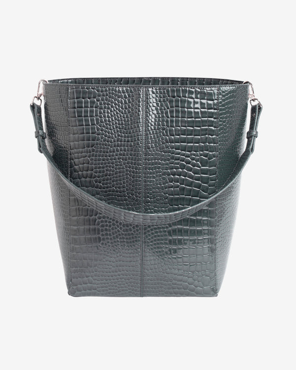 Hvisk CASSET CROCO Crossbody 077 Dark Grey