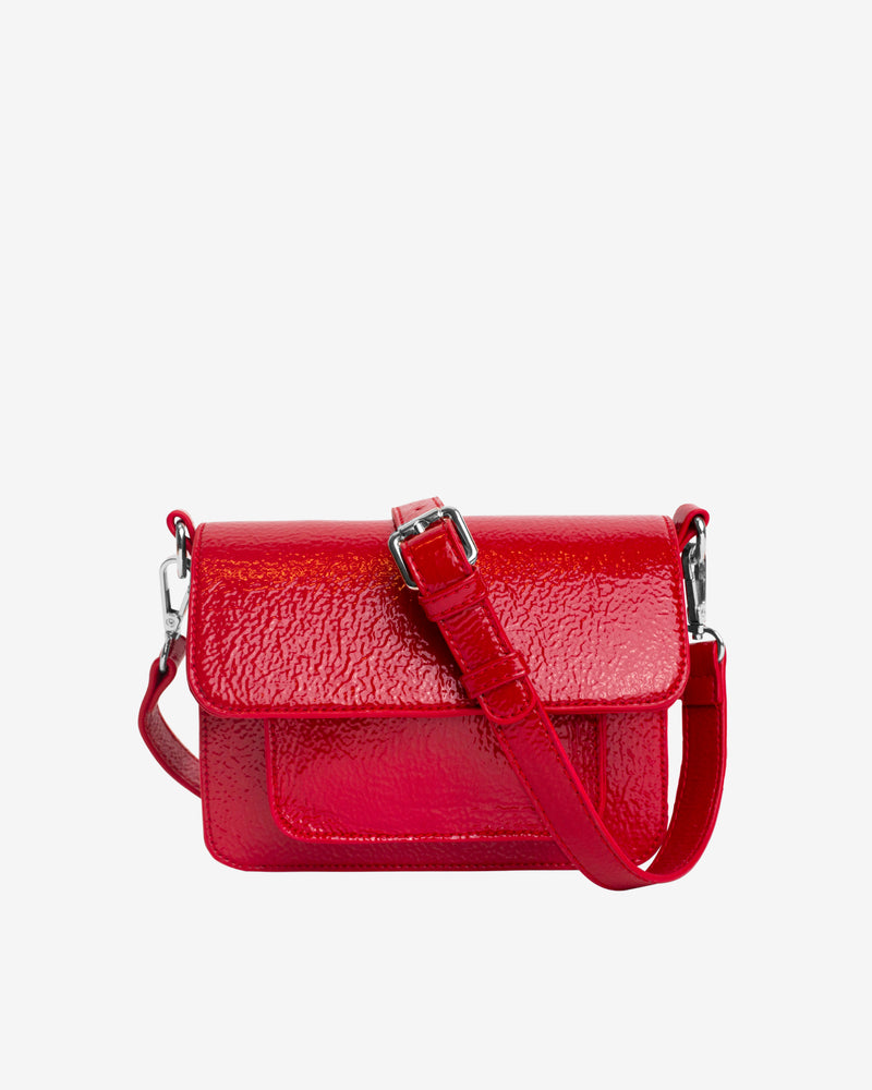 Hvisk CAYMAN MINI GLOSSY Crossbody 104 Posh Red