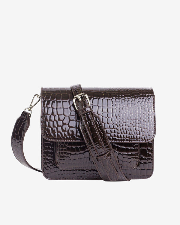 Hvisk CAYMAN POCKET Crossbody 115 Dark Brown