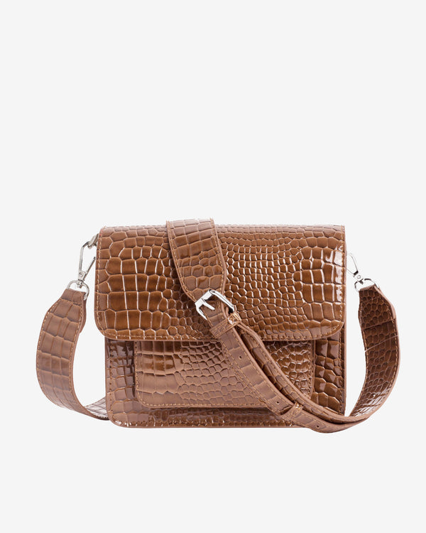 Hvisk CAYMAN POCKET Crossbody 126 Tawny Brown