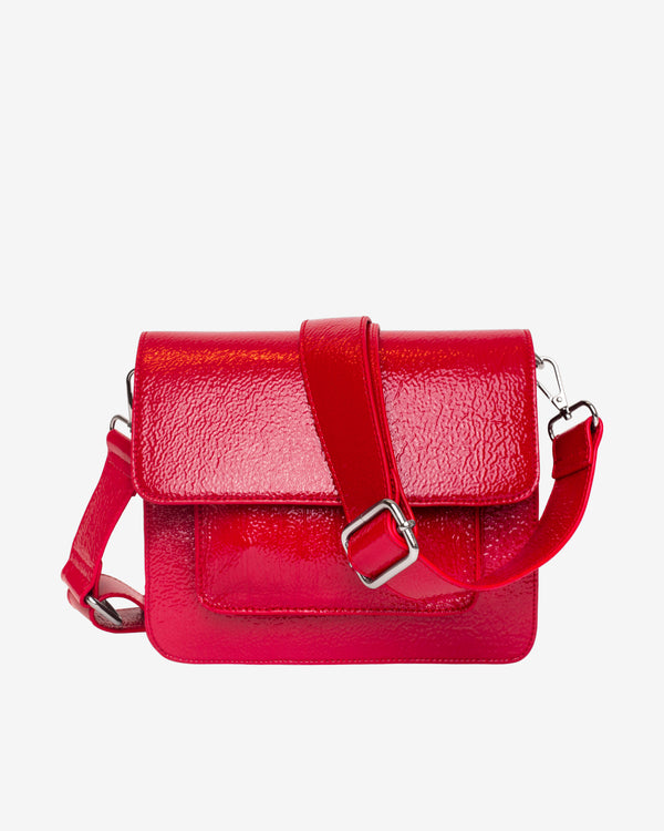 Hvisk CAYMAN POCKET GLOSSY Crossbody 104 Posh Red