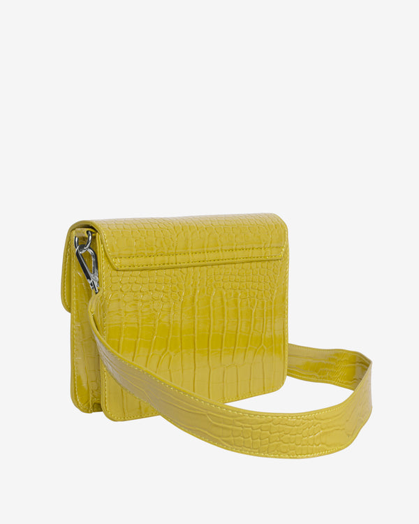 Hvisk CAYMAN SHINY STRAP BAG Crossbody 070 Chartreuse Yellow