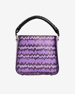 Hvisk CAYMAN SNAKE BUCKET Handle Bag 008 Purple