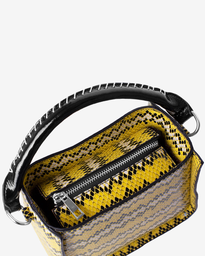 Hvisk CAYMAN SNAKE BUCKET Handle Bag 018 Yellow