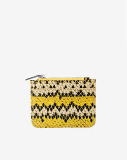 Hvisk CAYMAN SNAKE CARD HOLDER Wallet 018 Yellow