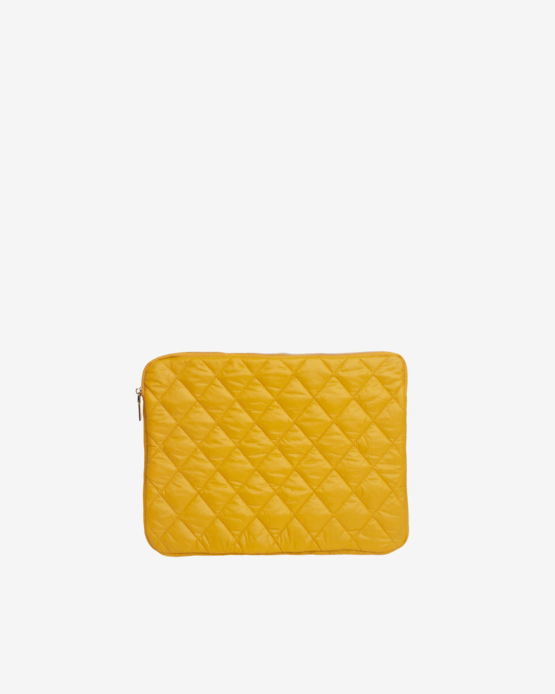 "Hvisk COMPUTER SLEEVE 13"" QUILTED TRAWL Computer Sleeve 018 Yellow"