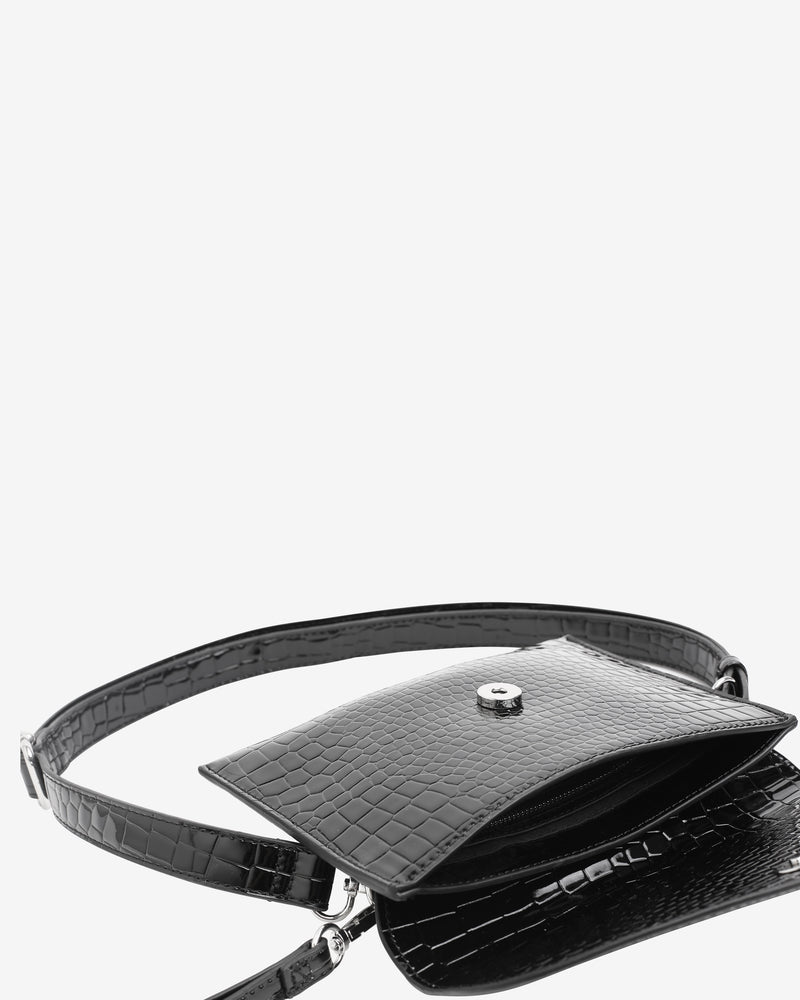 Hvisk EVOLVE CROCO Crossbody 009 Black